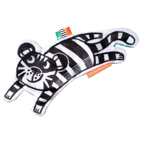Crinkle Tiger Baby Sensory Toy with Ribbon Tags