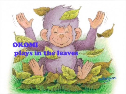Okomi Plays in the Leaves (download)